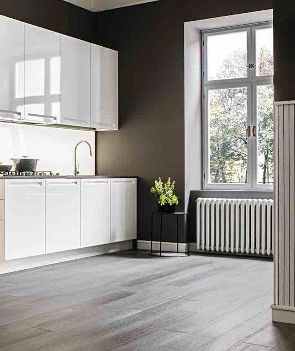 Cucina Luce Teodori Home by Mobilegno bianco laccato lucido