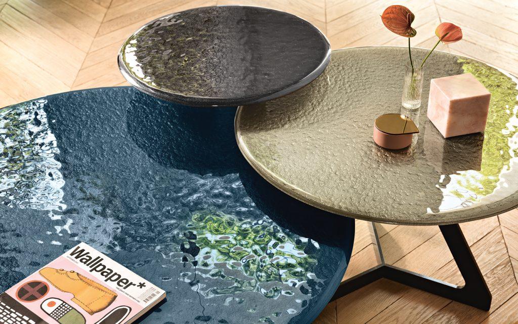 Tavolino Lakes In Vetro Fuso